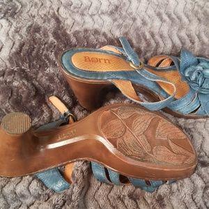 Born Shoes - Born sz 10 deep turquoise sandals